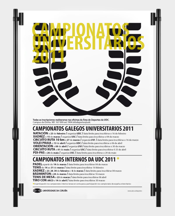 Cartaz dos «Campionatos Universitarios 2011»