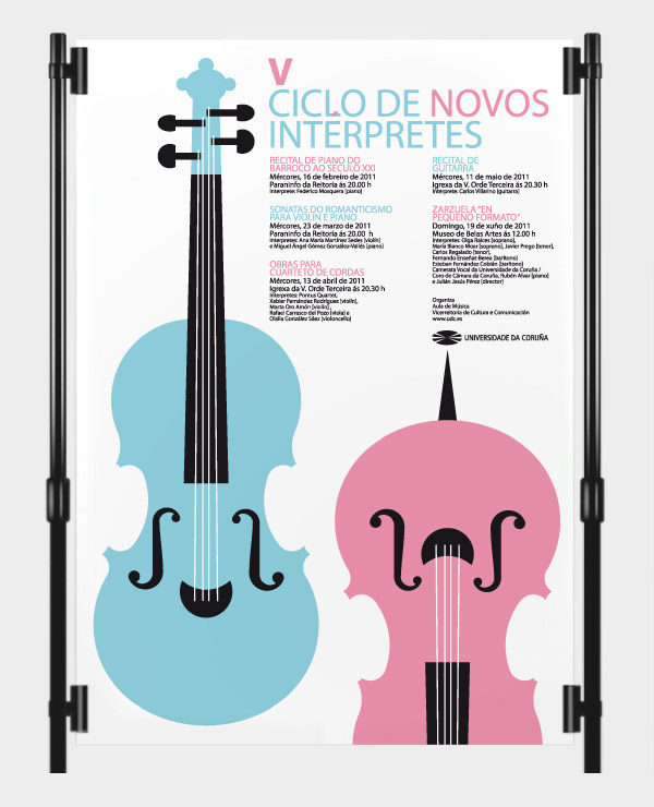 Cartaz do «V Ciclo de Novos Interpretes»
